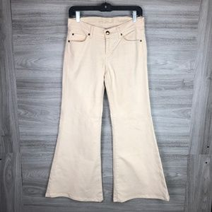 7 For All Mankind Superflare Cream Pants Size 26